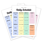 Homeschool Daily Schedule Printable One Happy Housewife