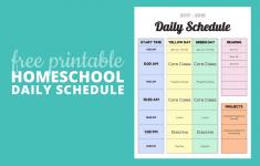 Homeschool Daily Schedule Printable