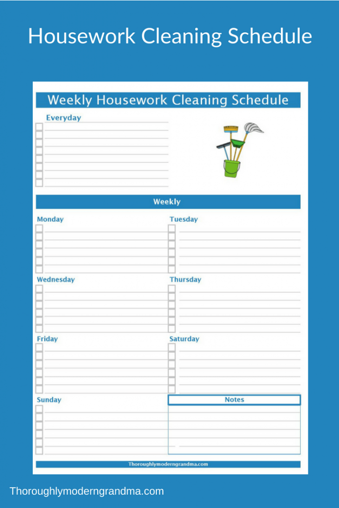 Housework Cleaning Schedule Cleaning Schedule Housework