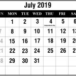 How To Schedule Your Month With July 2019 Printable