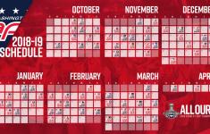 Washington Capitals Printable Schedule