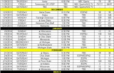 Iowa Releases 2013 14 Basketball Schedule Black Heart