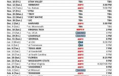 Kentucky Basketball Schedule 2017 18 TV Times And