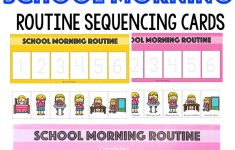 Kids Schedule Morning Routine For School School Morning
