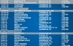Ku Bball Schedule Examples And Forms