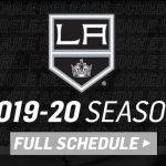 LA Kings Announce Entire 2019 20 Regular Season Schedule