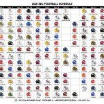 LOOK The Entire 2021 SEC Football Schedule Has Been