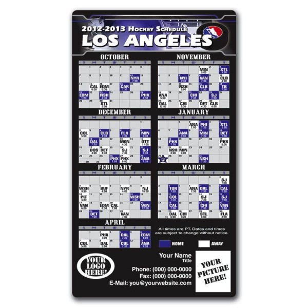 Los Angeles Kings Pro Hockey Schedule Magnets 4 X 7