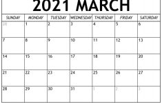 March 2021 Calendar With Holidays Mycalendarlabs