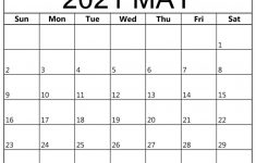 May 2021 Calendar Printable For Office And Home Schedule
