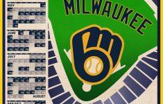 Milwaukee Brewers Printable Schedule 2021