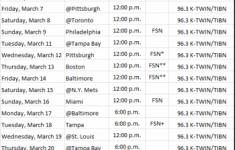 Minnesota Twins 2014 Spring Training Radio TV Schedule