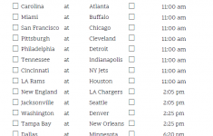 Mountain Time Week 8 NFL Schedule 2020 Printable
