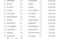 Mountain Time Week 9 NFL Schedule 2020 Printable