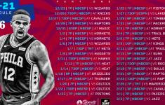 76ers Schedule 2021 20 Printable