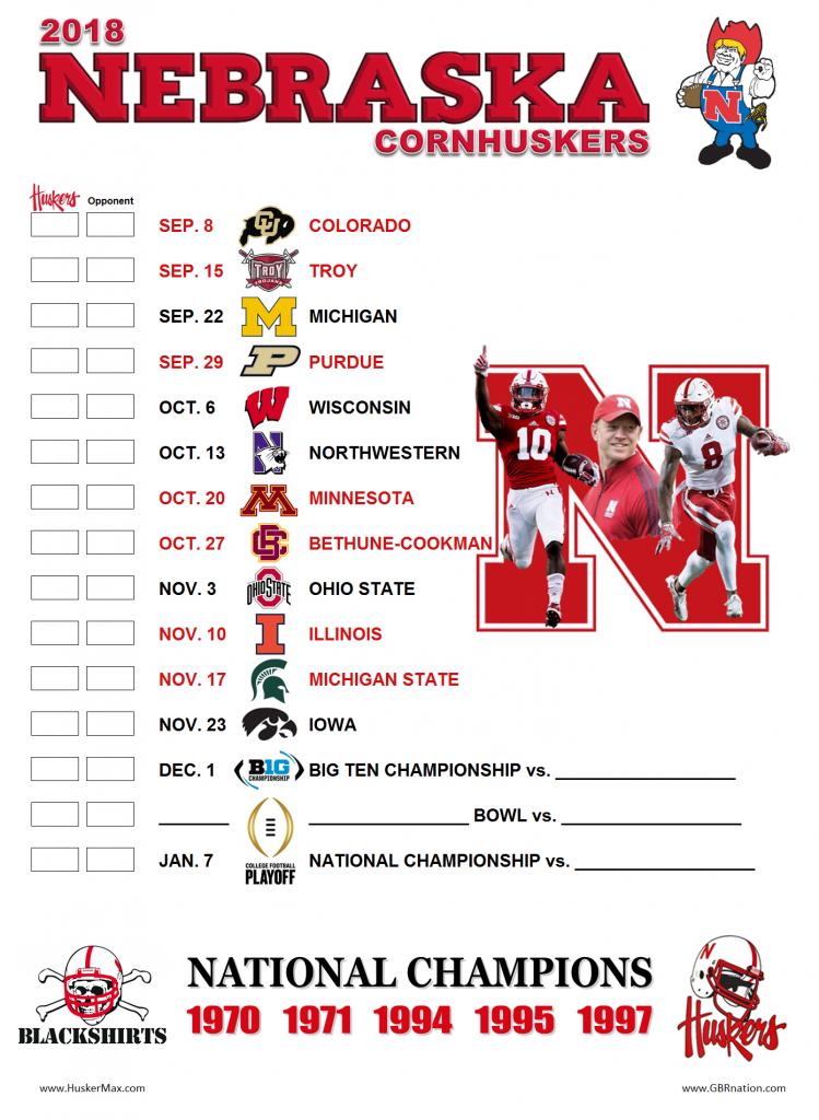 Nebraska Basketball Schedule 2021 Printable