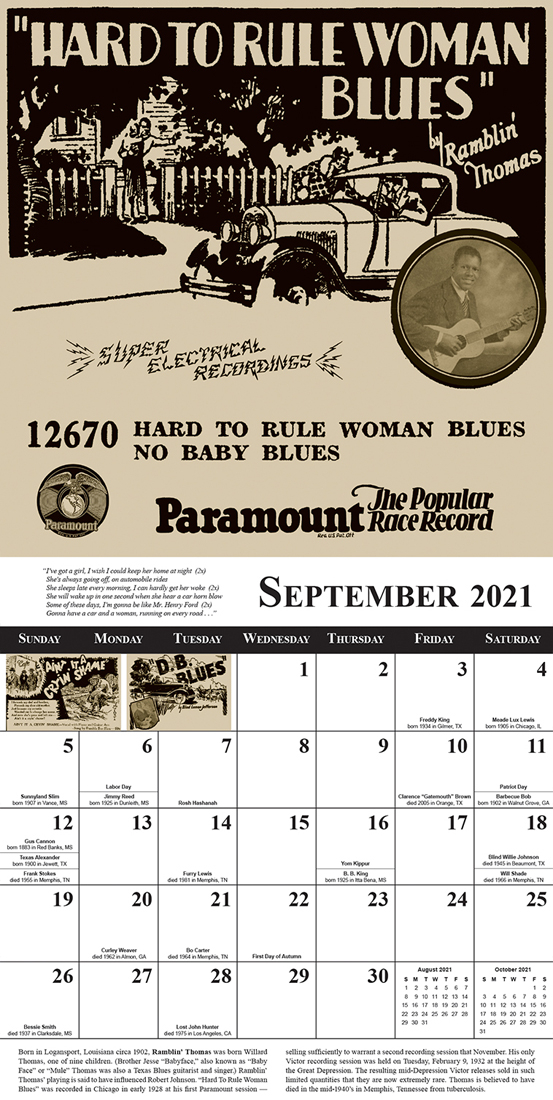 NEW Now Shipping Blues Images 2021 Blues Calendar Sample