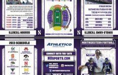 Northwestern 2013 Football Schedule Card Schedule Cards