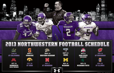Northwestern Football Schedule Magnet 2013 Print