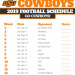 Oklahoma State Football Schedule 2021 Printable