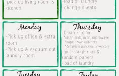 Home Cleaning Schedule Printable