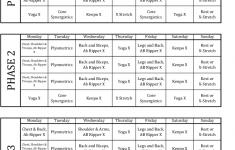 P90x Calendar Classic Png 651 799 Pixels P90x Workout