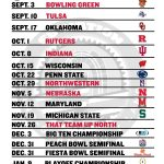 Print Your Own 2016 Ohio State Football Graphical Schedule