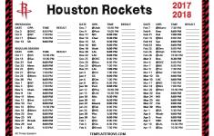 Rockets Schedule Printable
