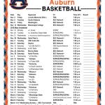 Printable 2018 2019 Auburn Tigers Basketball Schedule