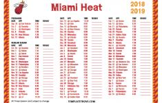 Printable 2018 2019 Miami Heat Schedule
