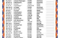Printable 2018 2019 Syracuse Orange Basketball Schedule