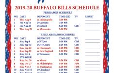 Printable 2019 2020 Buffalo Bills Schedule