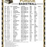 Printable 2019 2020 Purdue Boilermakers Basketball Schedule