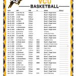 Printable 2019 2020 VCU Rams Basketball Schedule