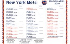 Mets Printable Schedule