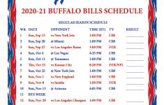 Buffalo Bills 2021 Printable Schedule
