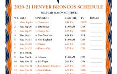 Denver Broncos Schedule 2021 Printable