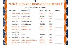 Denver Broncos Printable Schedule