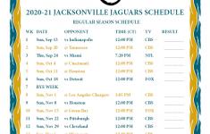 Jacksonville Jaguars Schedule 2021 Printable