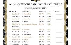 Saints Schedule Printable 2021
