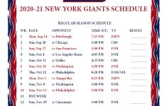 Ny Giants Schedule 2021 Printable