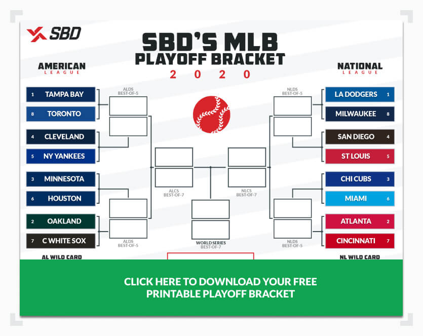 Printable 2020 MLB Playoff Bracket Fill Out Your Picks Here