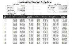 Printable Amortization Schedule By Month Template