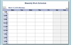 Printable Blank Weekly Employee Schedule Free Calendar