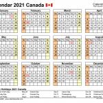 Printable Calendar 2021 Canada Free 2021 Printable Calendars