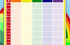 Printable Elementary School Schedule For Kids Woo Jr