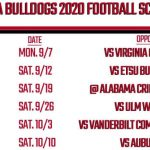 Printable Georgia Football Schedule 2020