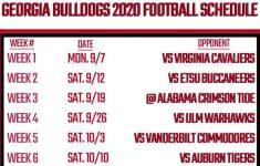 Printable Georgia Football Schedule