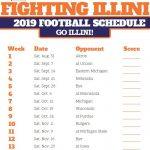 Printable Illinois Fighting Illini Football Schedule