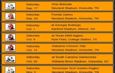 Printable Lady Vols Basketball Schedule All Basketball